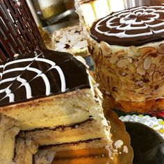 Stop into Piece, Love & Chocolate to recharge on some #bouldercreek #cake!