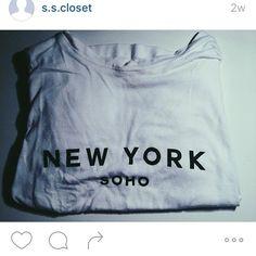 BRANDY MELVILLE CROP TEE! New York Soho print. never worn // ONE SIZE. Brandy Melville Tops Crop Tops