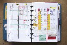 simple week & month DIY Planner Templates - free download