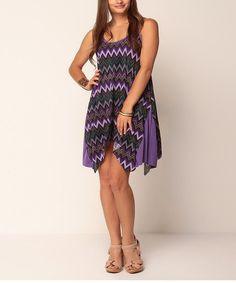 Purple Zigzag Breeza Dress