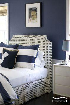 blue bedroom ocean navy blue bright decor cozy