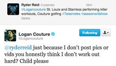 Oh Logan Couture you always crack me up! Logan Couture, Child Please, San Jose Sharks, Nhl, Sassy, Hockey, Sick, My Love, Boys
