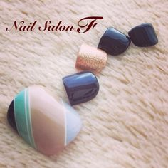 TOTALLY WOULD do this nail art on my toes! Simple and Cute! | toe nail art design idea | ideas de unas
