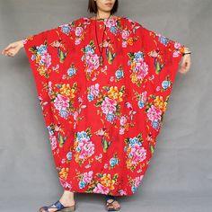 Women Plus Size Dress Loose Fitting Cotton Linen Dress Short sleeved Summer Dress Print Dress