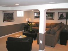 Basement Family Room Design Ideas, Pictures, Remodel, and Decor
