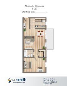 Trendy Apartment Rental Bedroom Floor Trendy Apartment Rental Bedroom Floor Plans One Bedroom Floor Plan Small Apartment Plans, Apartment Floor Plans, Bedroom Floor Plans, Apartment Layout, One Bedroom Apartment, House Floor Plans, Studio Apartment, Rental Apartments, Small Apartments