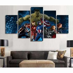5 Piece Multi Panel Modern Home Decor Framed The Avengers Movie Wall Canvas Art - Visit to grab an amazing super hero shirt now on sale! Art Painting Images, Art Paintings For Sale, Oil Paintings, Marvel Avengers, Avengers Cast, Avengers Memes, Canvas Frame, Canvas Wall Art, Canvas Size