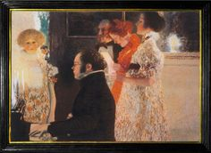 Gustav Klimt: Shubert at the Piano, (1899) Destroyed in 1945 fire set by retreating SS forces.