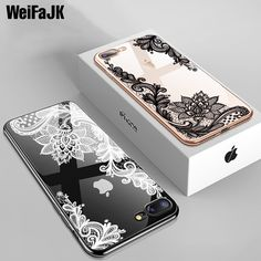 3f6dc4f6733 Luxury Silicone Phone Case For iPhone 7 6 6s Plus 5s Cases 3D Lace Flower  Girl