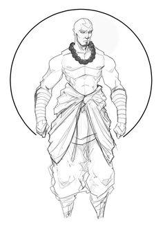 adult avatar aang revision by Sketchydeez on deviantART