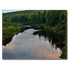 Little Black River Postcard (Pkg of 8) by KJacksonPhotography --  Taken 09.21.2014 Little Black River is a river in Quebec and northern Maine. From its source in Témiscouata RCM, Quebec, the river runs east and southeast across the Canada – United States border in Maine Township 19, Range 12, WELS, to the Saint John River at Dickey, Maine.PC:222.262