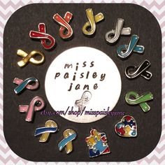 30% off Living Locket Ribbon Charms by MissPaisleyJane on Etsy
