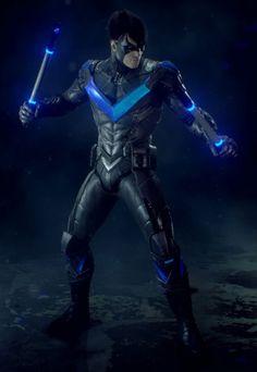Batman -- Arkham Knight - Nightwing Cosplay Costume Version 09 - Cosplay House