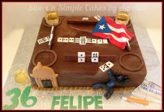 Cake for grandpas birthday! Fondant Cakes, Cupcake Cakes, Cupcakes, Birthday Party Themes, Birthday Stuff, Birthday Cake, Mustache Theme, Puerto Rico Food, Quince Cakes