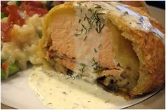 Salmon Baked in Puff Pastry with Dill Sauce   Jaime Cooks: Endevours in Eating & Entertaining