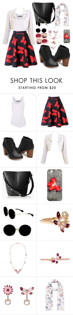 """office"" by jessipg ❤ liked on Polyvore featuring Enza Costa, WithChic, Chanel, Handle, Casetify, Miu Miu, Gucci and Accessorize"
