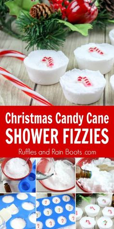 These candy cane Christmas shower fizzies are the perfect DIY gift for those who just can't get behind baths. Click through to see how easy they are to make! Christmas Gifts For Girlfriend, Christmas Gifts For Girls, Christmas Candy, Christmas Presents, Easy Homemade Christmas Gifts, Xmas, Diy Gifts Cheap, Shower Bombs, Bath Bombs