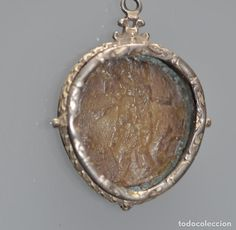 Antigüedades: RELICARIO DE PLATA , SIGLO XVIII , PAPA CLEMENTE XI , MEDALLA CÉREA AGNUS DEI , - Foto 2 - 87406888