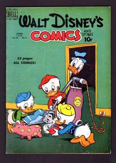 Walt Disney's Comics Stories 117 6 5 Fine 1950 Dell Donald Duck Mickey Mouse | eBay