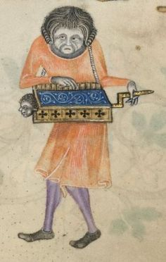 Detail from The Luttrell Psalter, 1325-1340, British Library Add MS 42130, f176r: