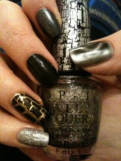 Metallic Nail Mani unhas decoradas