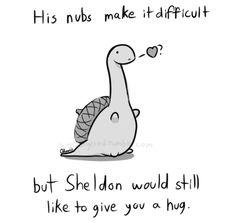 happy valentine's day, from sheldon the tiny dinosaur. #valentine #imgur