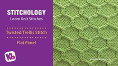 Twisted Trellis Stitch- Loom Knitting Stitch
