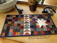 Heartspun Quilts ~ Pam Buda: Pocket Patchwork Sew~Along: Tucker ~ Part Four