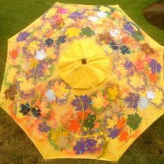 The Umbrella Project - The City of Penticton's Arts and Culture Committee is raising funds by having businesses sponsor umbrellas painted by local artists. Funds will go to future arts and culture projects in the city. Thirty artists are working on their creations, this one is by Carolina Born-Tschuemperlin.