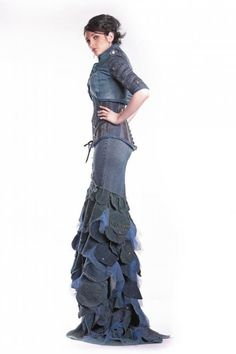 Image detail for -DENIM COUTURE DRESS side $1486.00