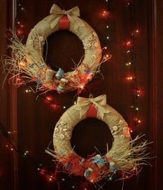 Рождественские венки с воспоминаниями о море. Диаметр 30 см, цена - 1300 руб.