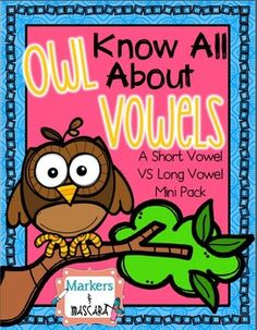This freebie includes several ways to practice deciphering between short and long vowels. Activities include various picture and word cards for sorting and several quick pages to determine students' knowledge of long vowels. Abc Phonics, Phonics Reading, Kindergarten Reading, Teaching Reading, Learning, Vowel Activities, Kindergarten Activities, Cvce Words, Teacher Freebies