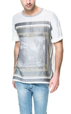 Printed Frame Tshirt | Zara