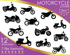 Hey, I found this really awesome Etsy listing at https://www.etsy.com/listing/516938925/12-silhouettes-motorcycle-motor-vehicle