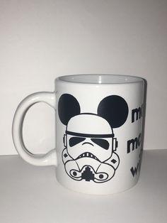Mickey Star Wars Coffee Mug by amgcraftsudio on Etsy