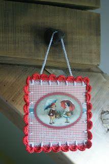 crochet Christmas card
