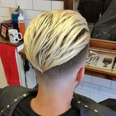 Pretty Boy Haircuts - Low Skin Fade with Long Slick Back