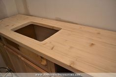 [ Diy Butcherblock Style Countertop Butcher Block Countertops For Stunning Kitchen Look ] - Best Free Home Design Idea & Inspiration Diy Wood Countertops, Kitchen Countertop Materials, Inexpensive Kitchen Countertops, Sink Countertop, Kitchen Cabinets, Plywood Countertop, Cheap Kitchen Countertops, Kitchen Tables, Laminate Flooring