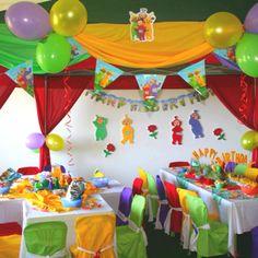 Teletubbies decoration ideas Birthday Party Images, 1st Birthday Boy Themes, First Birthday Parties, Birthday Party Decorations, First Birthdays, Birthday Ideas, 3rd Birthday, Teletubbies Birthday Cake, Teletubbies Cake