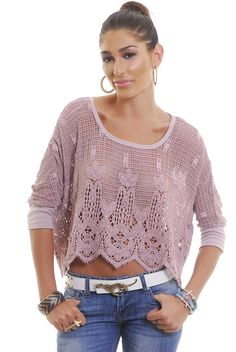 Reference   Cropped Crochet Top