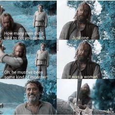 Game of thrones, The Hound, Sandor Clegane, Brienne of Tarth Hound Game Of Thrones, Game Of Thrones Quotes, Game Of Thrones Funny, Hbo Game Of Thrones, Winter Is Here, Winter Is Coming, Brienne Von Tarth, Game Of Thones, Got Memes