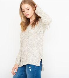 Slouchy V-Neck Sweater