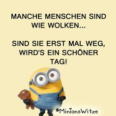 Sprüche                                                                                                                                                                                 Mehr Life Humor, Man Humor, Best Of Minions, Learn German, Slogan, I Laughed, Best Quotes, Funny Jokes, Haha