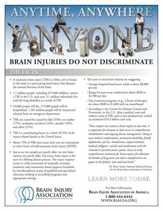 Fact sheet about TBI