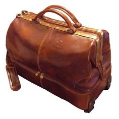 The Rolling Widemouth Leather Weekend Bag- This rolling leather ...