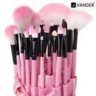 Vander Pro 32PCS Superior Soft Cosmetic Makeup Brush Pink Set Kit + Pouch case