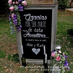 gracias por ser parte de esta aventura: Wedding Signs, Diy Wedding, Rustic Wedding, Dream Wedding, Wedding Day, Ideas Para Fiestas, Wedding Welcome, Wedding Details, Perfect Wedding