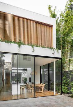 Cloud House Akin Atelier Vitrocsa Australia ® thin aluminium sliding doors is part of Facade house - Exterior Design, Interior And Exterior, Interior Doors, Facade Design, Modern Interior, Exterior Tradicional, Aluminium Sliding Doors, Sliding Windows, Aluminium Cladding