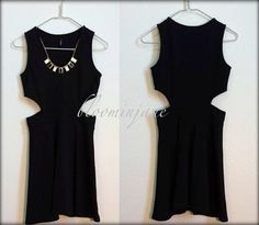 black skater dress with necklace,party dress $42 bloominjane.etsy.com