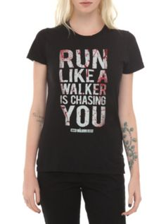 The Walking Dead Run Like A Walker Girls T-Shirt ($15.75-22.50) - Hot Topic | Top Seller
